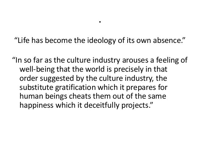 Sociology the culture industry