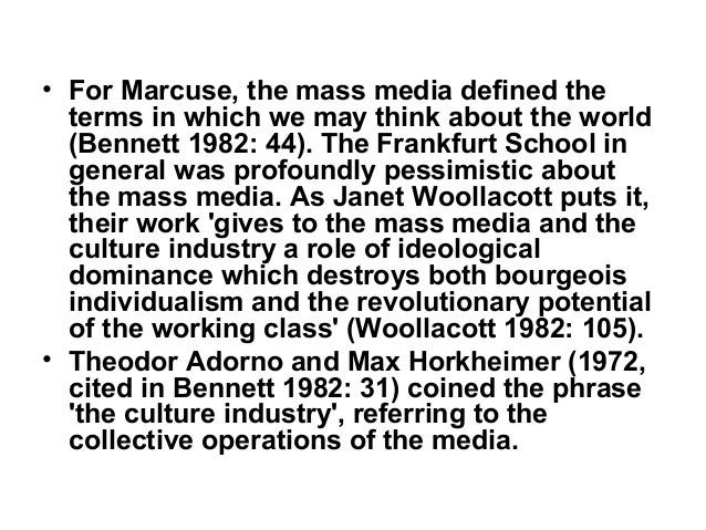 marxist approach to media Marxism and culture these books explore marxist approaches to culture, from the mass media to the avant-garde culture is the contested terrain on which we imagine .