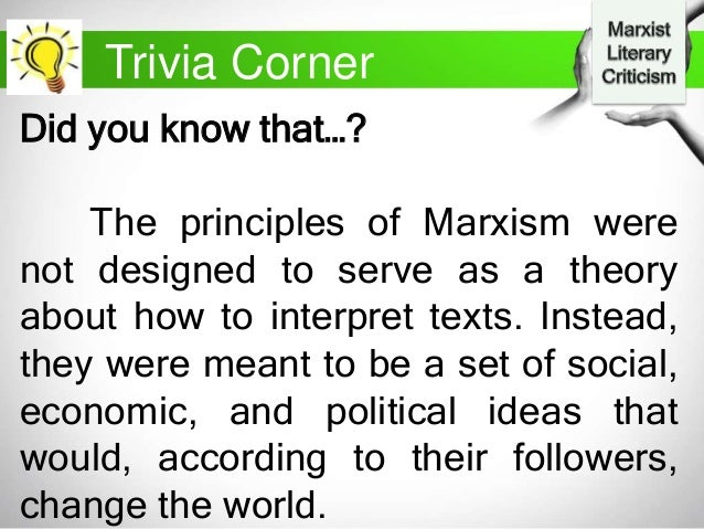 an analysis of marxist theory