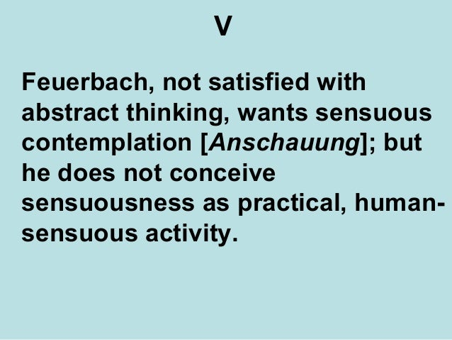 Thesis on feuerbach explained