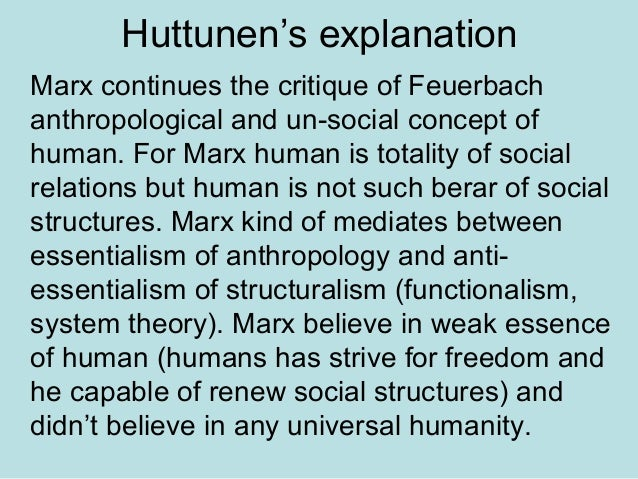 marx feuerbach thesis