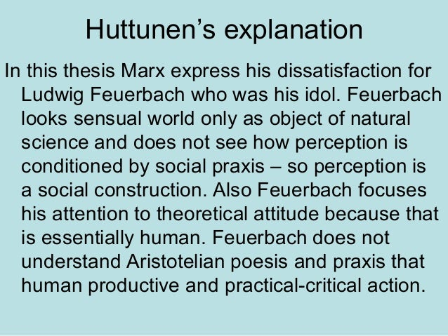 marx thesis on feuerbach
