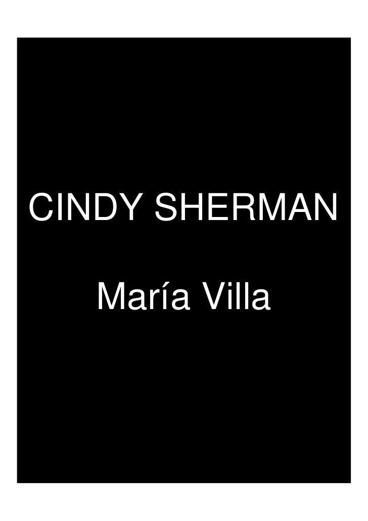 CINDY SHERMAN    María Villa