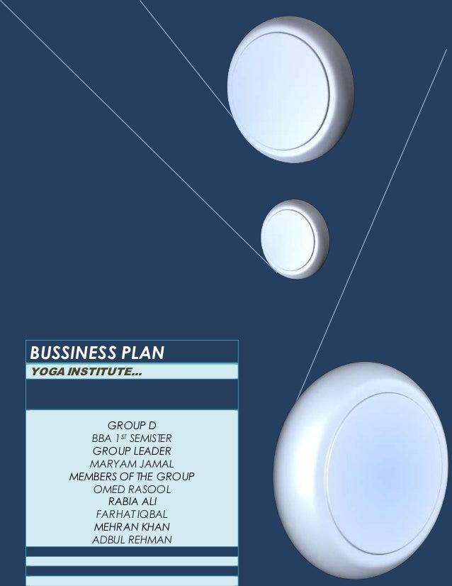 Yoga Center Business Plan