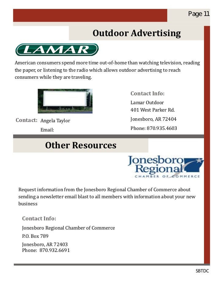 Get your arkansas business started right page 11 outdoor advertising american consumers spend more time out of home than watching television reading the paper or listening to the radio which reheart