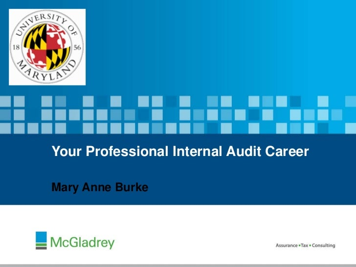 Your Professional Internal Audit CareerMary Anne Burke