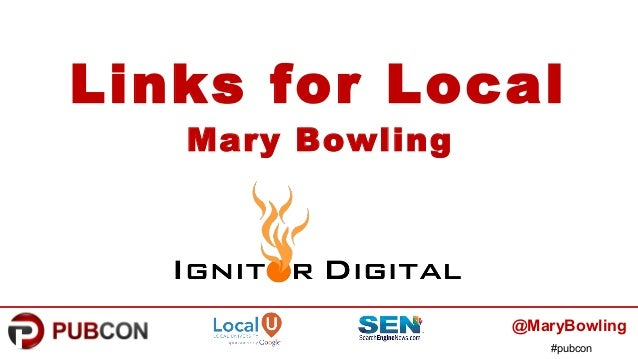 #pubcon Links for Local Mary Bowling @MaryBowling