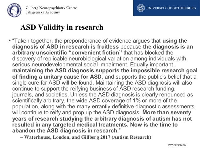 Asd Validity >> Autism From A To Z