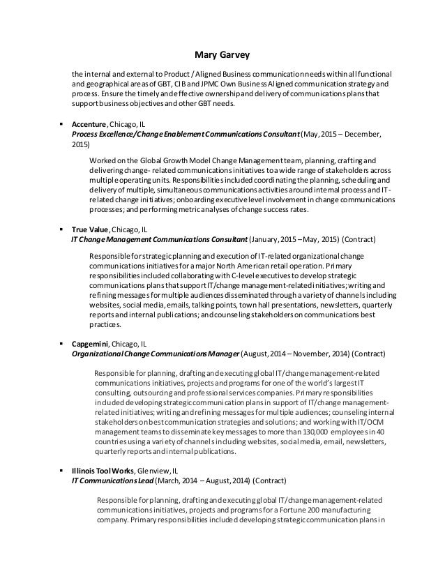 Stunning Change Management Contract Resume Photos - Best Resume ...