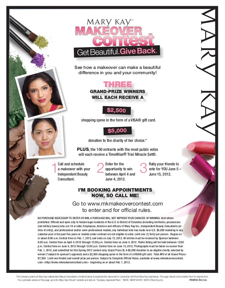 Mary Kay Makeover Contest 2012