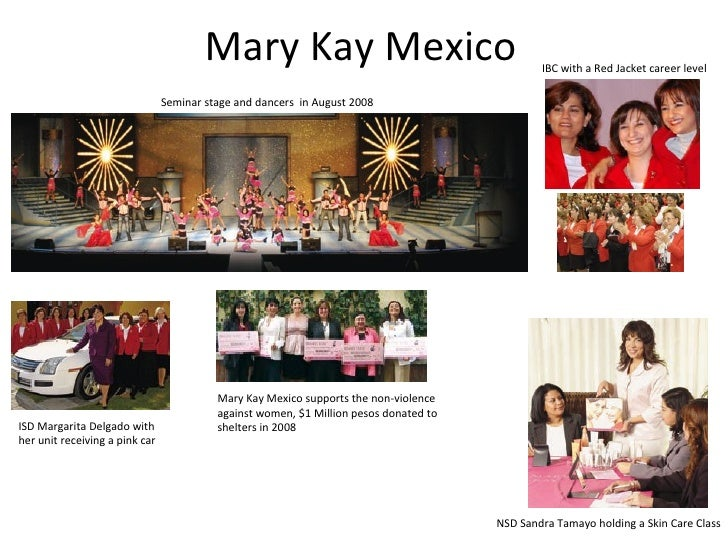 Mary Kay Mexico NSD Sandra Tamayo holding a Skin Care Class Seminar stage and dancers  in August 2008 ISD Margarita Delgad...