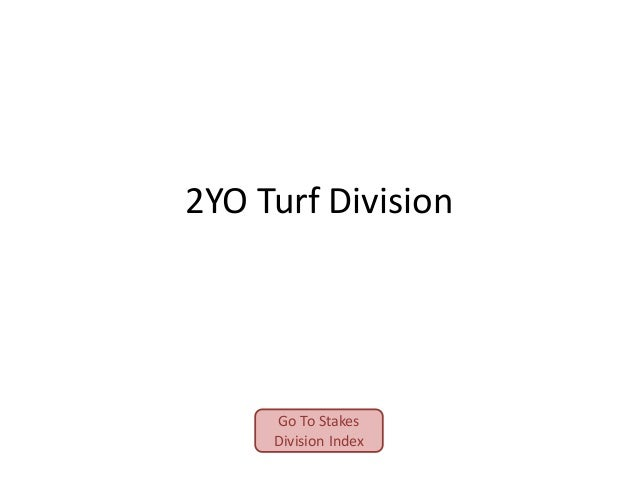 2YO Turf Division  Go To Stakes Division Index