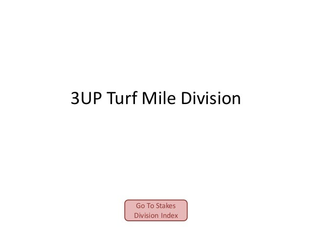 3UP Turf Mile Division  Go To Stakes Division Index