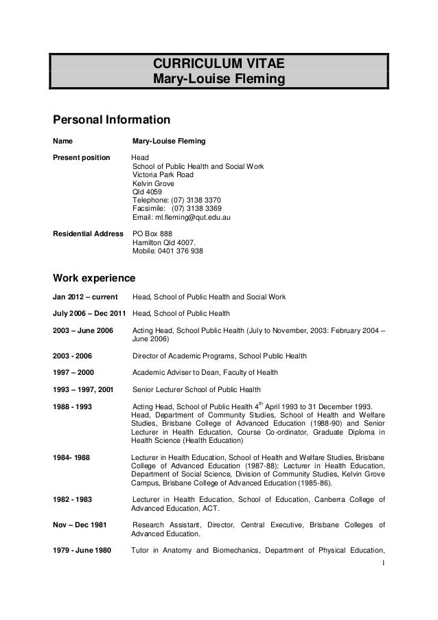 Phd Cv Template Latex