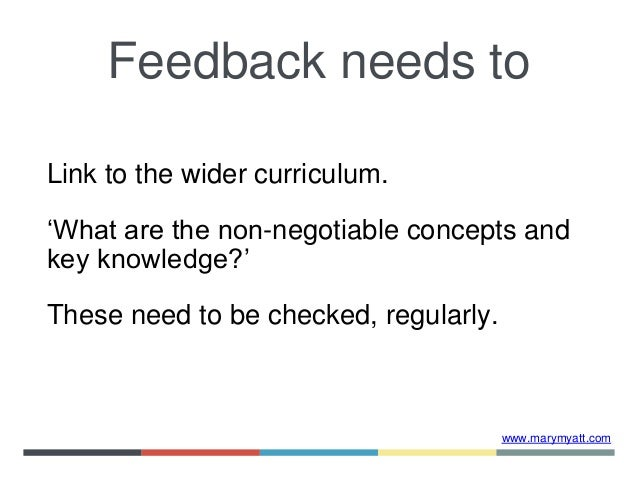 www.marymyatt.com Link to the wider curriculum. 'What are the non-negotiable concepts and key knowledge?' These need to be...