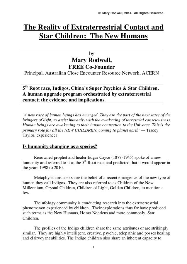 Mary Rodwell The Reality Of Extraterrestrial Contact And Star Child
