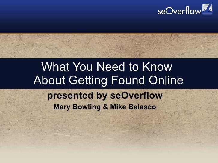 What you need to know about getting found online