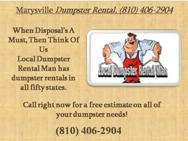 Marysville dumpster rental 810 406-2904