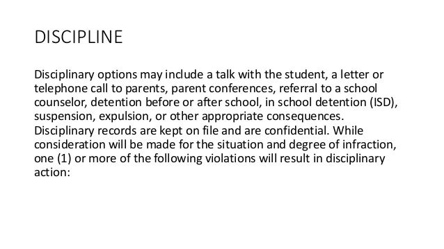 detention discipline essay Free classroom discipline papers, essays, and research papers.
