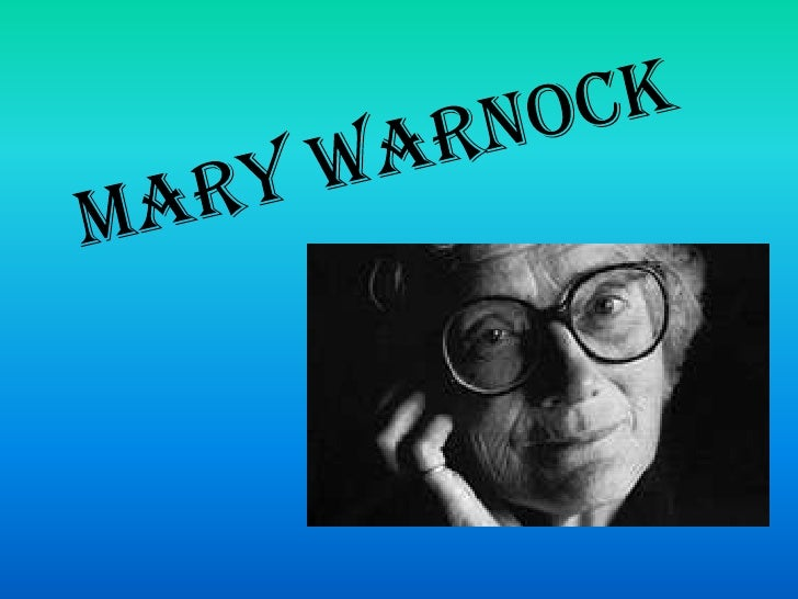Mary Warnock<br />