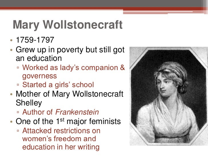 mary wollstonecraft essay thesis What is the theme of mary wollstonecraft's essay a vindication of the rights of woman.