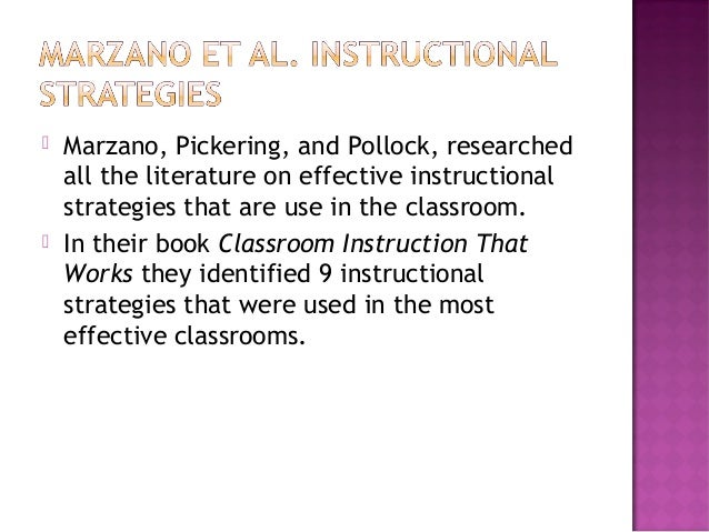 classroom instruction that works ebook
