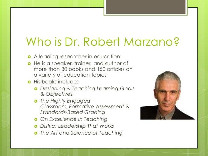 Marzanos Principles - Robert marzano lesson plan template