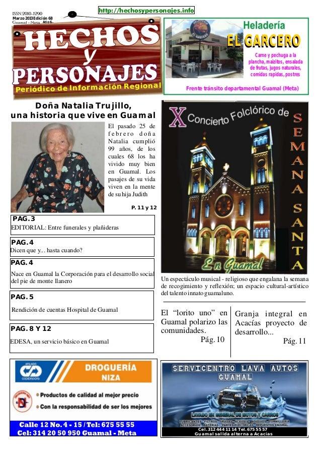 http://hechosypersonajes.infoMarzo 2013 Edición 68               Año 6                                                    ...