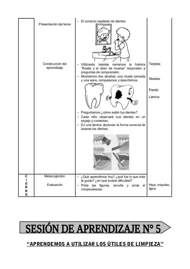 SESION DE APRENDIZAJE MARZO 5 AÑOS