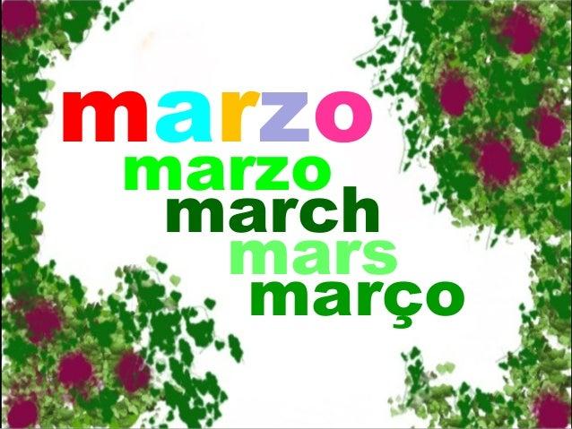 marzo marzo march mars março