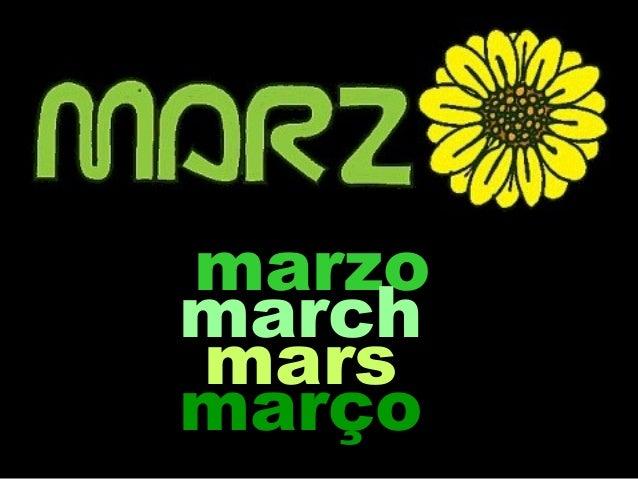 marzo march mars março