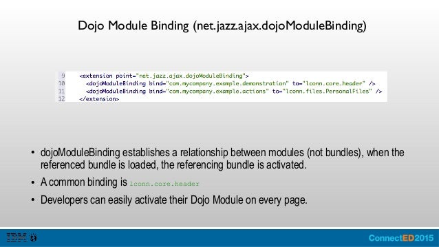 CSS (com.ibm.lconn.core.styles.cssBinding) ● cssBinding establishes a relationship between style sheets, when the referenc...