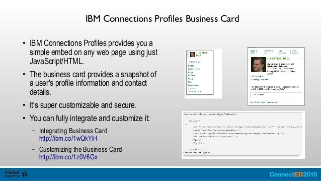 Ibm Business Card Template