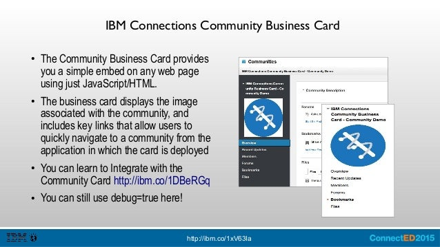 IBM Connections Business Cards Demos