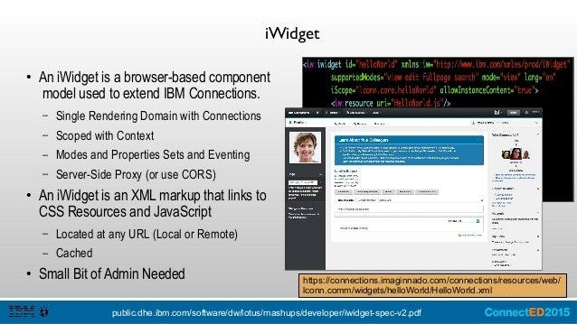 iWidget Key Elements ● User Profile is available via iContext: – this.iContext.getUserProfile().getItemValue('userid'); – ...