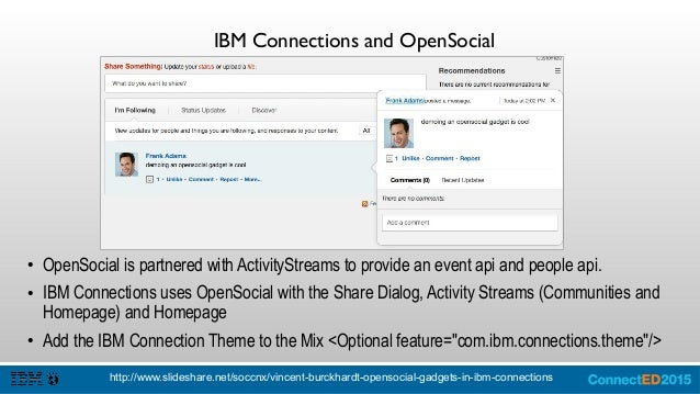 Homepage Layout {yourServer}/connections/resources/web/com.ibm.lconn.gadget/test/bootstrap.html?render=test&oneui=3