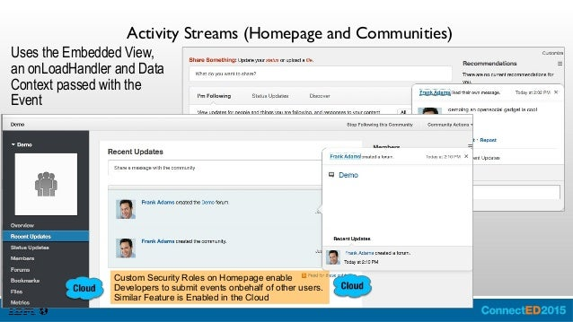 Homepage Layout – Share Dialog