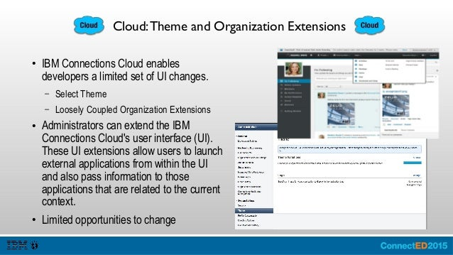 Organization Extensions Interface Add Extensions Import / Export / Delete (All of the Extensions) Each extension Is a JSON...