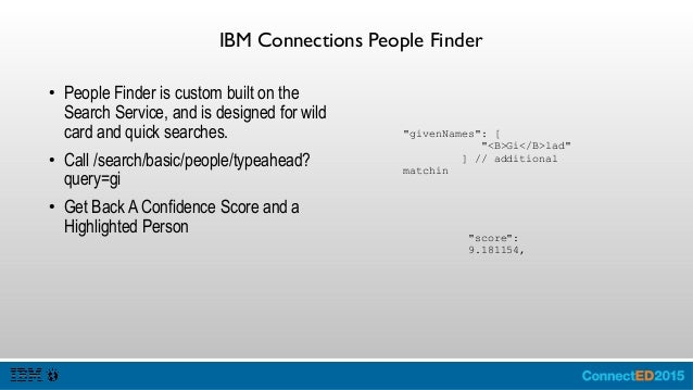 IBM Connections Communities ● Communities enables developers to provide an organization of people of a common interest, an...
