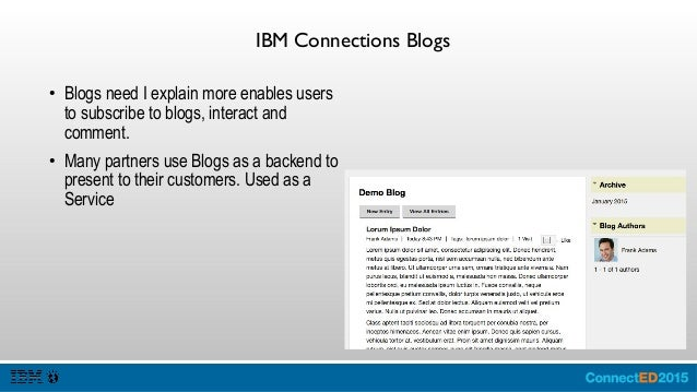 IBM Connections Bookmarks ● Bookmarks is a social bookmarking system to record resources which are of interest to others a...