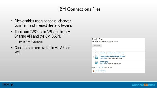 IBM Connections Forums ● Forums captures conversations around topics and categories.