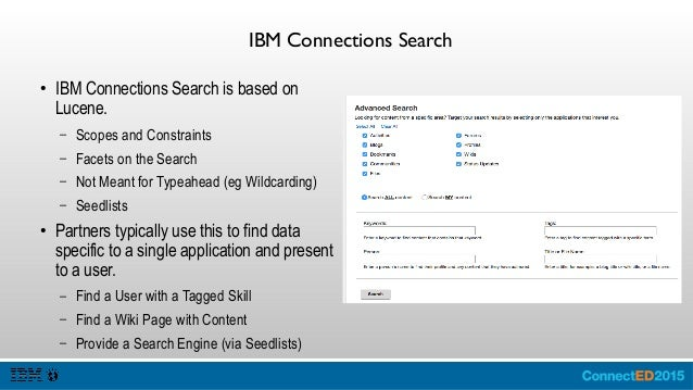 IBM Connections Events ● IBM Connections Events is a Service Provider Interface that enables developers to subscribe to th...