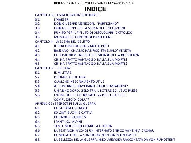 PRIMO VISENTIN, IL COMANDANTE MASACCIO: VIVE Slide 3