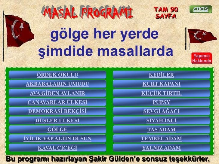 TAM 90           MASAL PROGRAMI                 SAYFA                                                     ÇIKIġ           ...