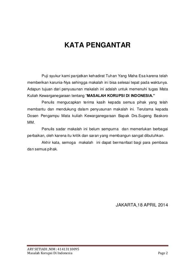 Makalah Masalah Korupsi Di Indonesia