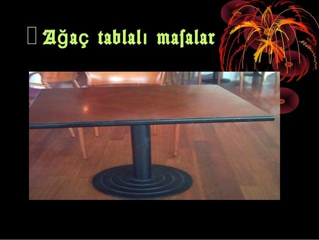 Masaların hazırlığı masaüstü servis takımları-bardaklar Slide 3
