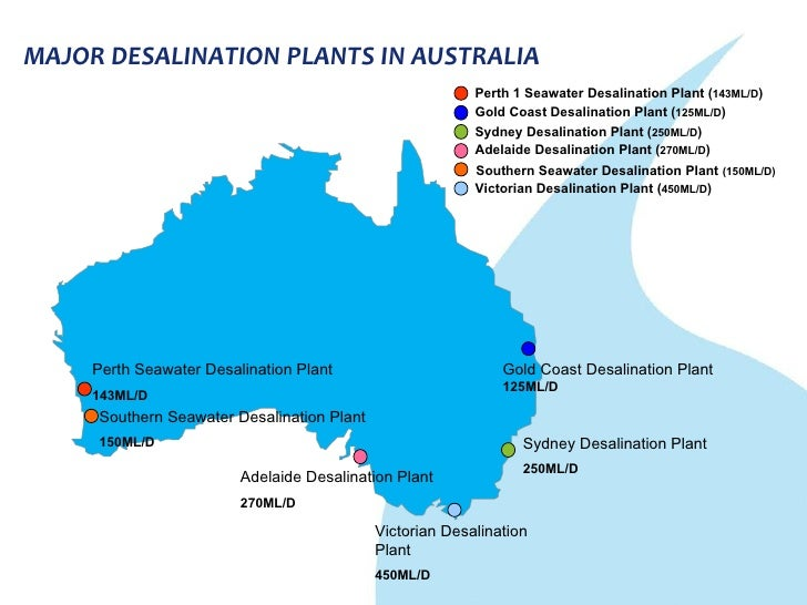 Australia success of desalination in solving water challenges