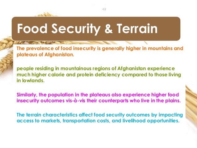 Food Security in Afghanistan