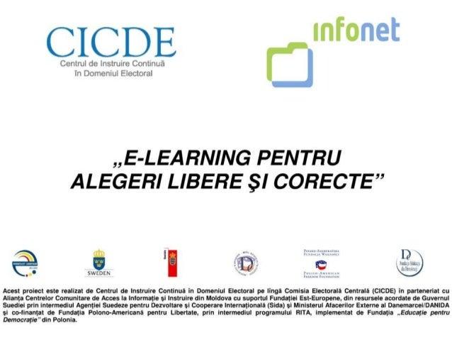 """Masă rotundă de evaluare a proiectului """"E-LEARNING PENTRU ALEGERI LIBERE ŞI CORECTE"""" 28 martie 2014"""