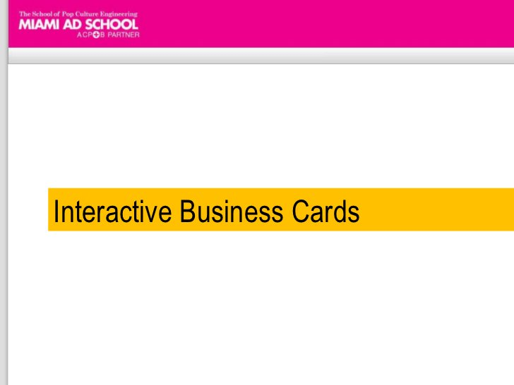 Interactive Business Cards